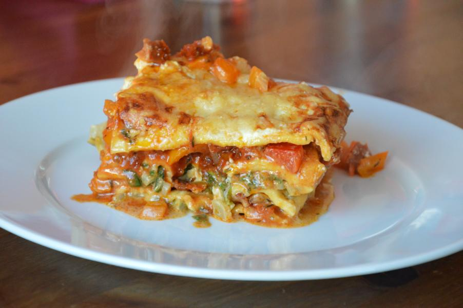 Mangold-Paprika-Lasagne