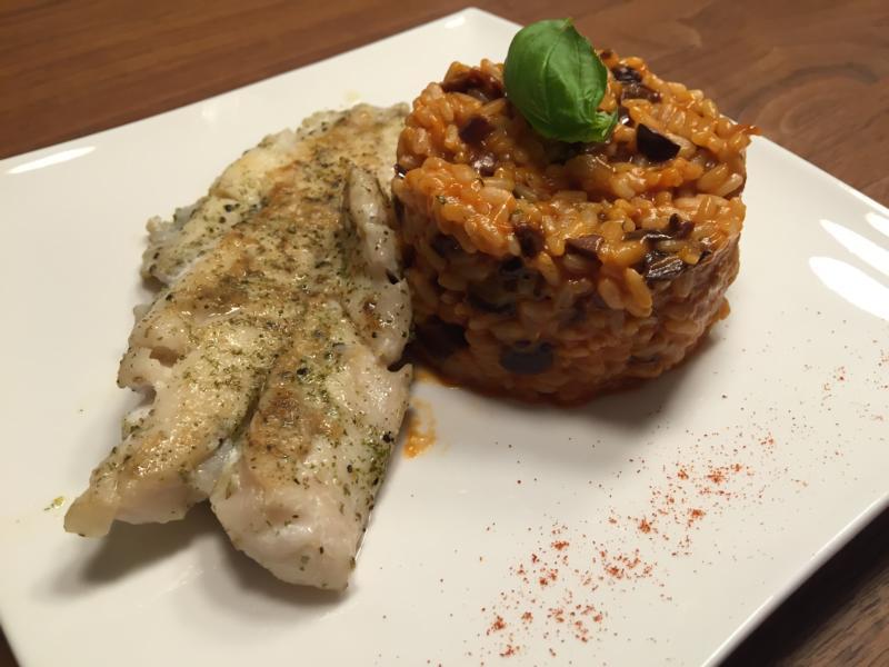 Oliven-Tomaten-Risotto