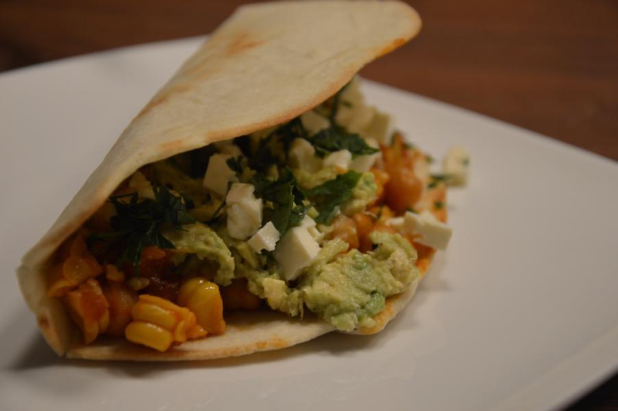 Mais-Kichererbsen-Tacos