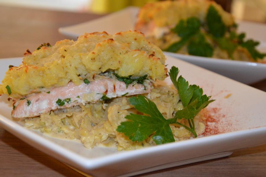 Lachsfilet mit Kartoffelkruste